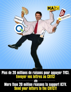 20 millions de raisons pour appuyer TVCI - 20 million reasons to support ICTV